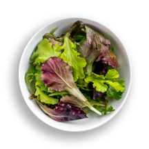 Nutritional image of mesclun in the build your own salad table