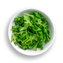Nutritional image of arugula in the build your own salad table