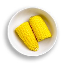 Nutritional image of corn in the build your own salad table