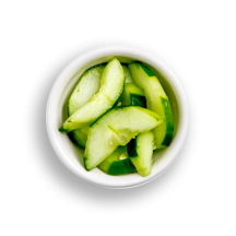 Nutritional image of cucumber in the build your own salad table