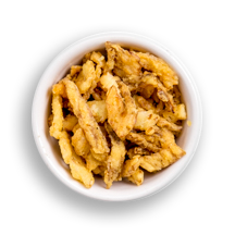 Nutritional image of crispy onions in the build your own salad table