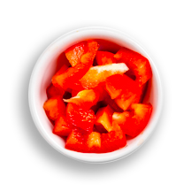 Nutritional image of bell peppers in build your own breakfast table