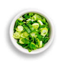 Nutritional image of scallion in build your own breakfast table