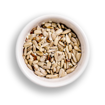 Nutritional image of raw seeds in the build your own salad table