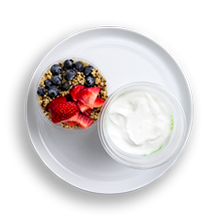 Nutritional image of yogurt in the yogurt parfaits table