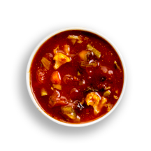 Nutritional image of 2 bean chili poblano soup in the daily soups table