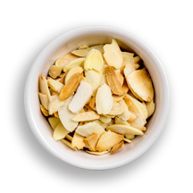 Nutritional image of toasted almonds in the build your own salad table