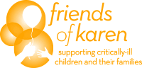 click here to read paragraph about Friends of Karen supporting critically-ill children and their families