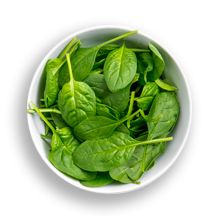 Nutritional image of (baby) spinach in build your own breakfast table