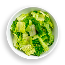 Nutritional image of romaine hearts in the build your own salad table