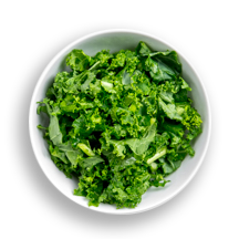 Nutritional image of kale in the build your own salad table