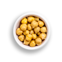 Nutritional image of organic chickpeas in the build your own salad table