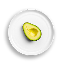 Nutritional image of avocado in the build your own salad table