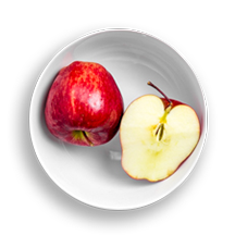 Nutritional image of apples in the hot cereal bar table