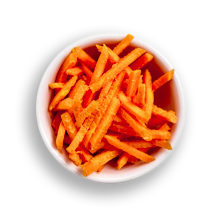 Nutritional image of raw carrots in the build your own salad table