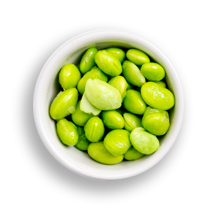 Nutritional image of edamame in the build your own salad table