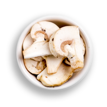 Nutritional image of (raw) mushrooms