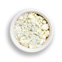 Nutritional image of blue cheese in the build your own salad table