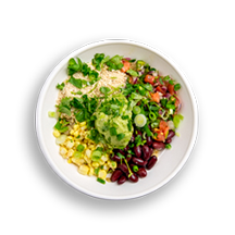 Nutritional image of south by southwest with quinoa in the grain bowls table