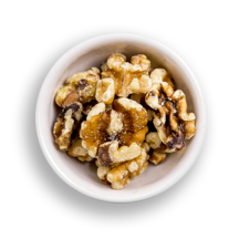 Nutritional image of walnuts in the hot cereal bar table