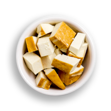 Nutritional image of smoked tofu in the build your own salad table