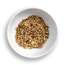 Nutritional image of quinoa in the build your own salad table