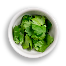 Nutritional image of cilantro in the build your own salad table